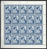 Sg 494 1948 Silver Wedding Cyl 1 Dot perf type 5 Full sheet of 20 UNMOUNTED MINT