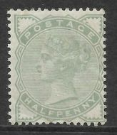 Sg 165 ½d Pale Green 1880-1881 Issue UNMOUNTED MINT/MNH