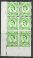 7d Multi Crowns on Cream cylinder 2 Dot perf type C UNMOUNTED MINT/MNH