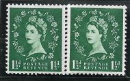 S29e 1½d Multi Crowns on White coil join horizontal pair UNMOUNTED MINT