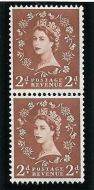 S44a Vertical Wilding Green phos Coil join pair UNMOUNTED MINT/ MNH