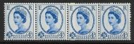 S82 4d Edward watermark Coil Join strip of 4 UNMOUNTED MINT
