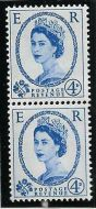 S82 4d Edward watermark Coil Join vertical pair UNMOUNTED MINT