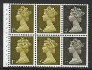 UB3a Pre-decimal Machin Booklet Pane Perf I Phosphor Omitted UNMOUNTED MINT