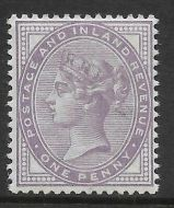 Sg 172a 1d Bluish Lilac 14 Dot with cert - see description UNMOUNTED MINT