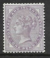 Sg 172a 1d Bluish Lilac 14 Dot with cert - see description UNMOUNTED MINT MNH