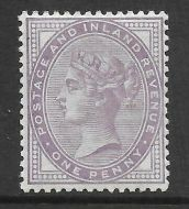 Sg 172a 1d Bluish Lilac 14 Dot with PTS cert - see description UNMOUNTED MINT