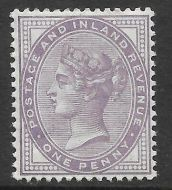 Sg 172a 1d Bluish Lilac 14 Dot with PTS cert - UNMOUNTED MINT MNH