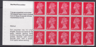 UB16a Cooks Booklet pane UNMOUNTED MINT MNH