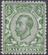 Spec N4(2) ½d Pale Green Downey Head UNMOUNTED MINT MNH