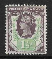 Sg 198 Spec K29(3) 1½d Deep Purple  Green Jubilee UNMOUNTED MINT