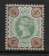 Sg 205 Spec K33(2) 4d Green  Deep Brown Jubilee UNMOUNTED MINT MNH