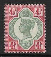 Sg 206 Spec K34(2) 4½d Deep Green  Carmine Jubilee UNMOUNTED MINT