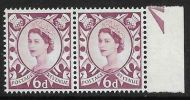Sg XS16a 6d Scotland with variety - broken V UNMOUNTED MINT