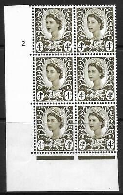Sg XW8c + d 4d Wales with 2 listed varieties cyl 2 UNMOUNTED MINT