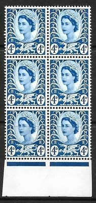 Sg XW7b 4d Wales variety - white spot after E UNMOUNTED MINT