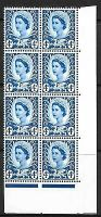 Sg XW7a 4d Wales variety - white spot before E UNMOUNTED MINT