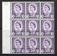Sg XW1a 3d Wales with listed variety - bulge on oval value UNMOUNTED MINT