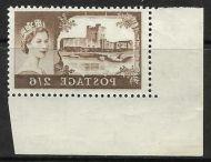 Sg 595a 2 6 Bradbury Wilkinson Castles - printed both sides UNMOUNTED MINT