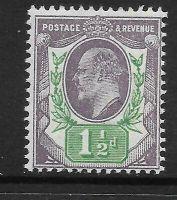 Sg 223 M9(1) 1½d Pale Dull Purple  Green Chalky De La Rue UNMOUNTED MINT