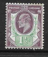 Sg 224 M9(2) 1½d Slate Purple  Blue Green Chalky De La Rue UNMOUNTED MINT