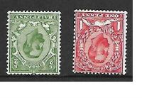Sg 334wi  336wi ½d Green  1d Red Downey Wmk inverted UNMOUNTED MINT MNH