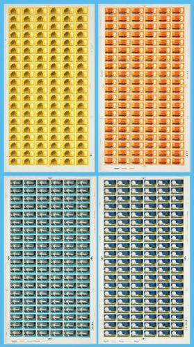 1966 BT Full Set of sheets - Phosphor with listed var and flaws UNMOUNTED MINT