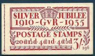 BB28 3/- Jubilee booklet complete no.296 trimmed perfs to 1st pane SUPERB MNH