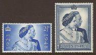 Sg 493-494 1948 Silver wedding Commemorative set UNMOUNTED MINT/MNH