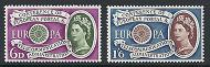 sg 621 - 622 1960 Europa Commemorative set of 2 UNMOUNTED MINT/MNH