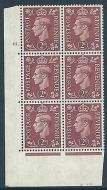 2d Brown Colour Change Cylinder 75 Dot perf 5(E/I) UNMOUNTED MINT/MNH