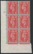 2½d Pale Scarlet Cylinder 267 Dot perf 5(E/I) UNMOUNTED MINT/MNH