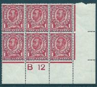 sg342 spec N11(1) 1d Scarlet Downey Control B12(c) perf 2a UNMOUNTED MINT/MNH