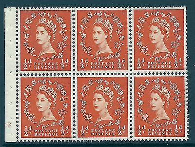 SB7 Wilding booklet pane Crown on Cream cylinder E12 No Dot UNMOUNTED MNT MNH