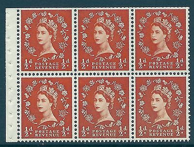 SB4c ½d Wilding Edward Crown booklet pane with variety UNMOUNTED MINT  MNH