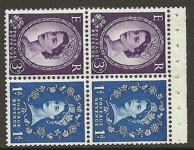 SB58 Wilding booklet pane 9.5mm Phos Crowns Right perf type AP UNMOUNTED MNT MNH