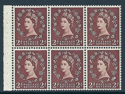SB78d 2d Wilding listed variety - Shamrock flaw R.2 3 UNMOUNTED MINT MNH