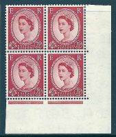 S52c 2½d Wilding Edward Crown listed variety - b for D UNMOUNTED MINT