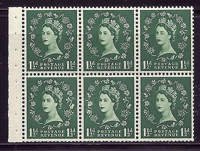 SB62e 1½d Wilding Edward crown - variety Major Retouch R.2 2 UNMOUNTED MINT MNH