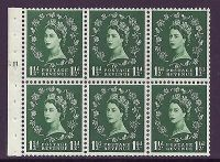 SB65 Wilding booklet pane MC on cream perf type I cyl G11 T UNMOUNTED MNT MNH