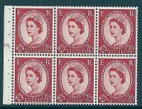 SB81i Wilding booklet pane Edward Crown perf type I cyl J9T No Dot UNMOUNTED MNT
