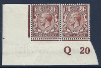 N18(12) 1½d Bright Yellow Brown Royal Cypher control Q 20 imperf UNMOUNTED MINT