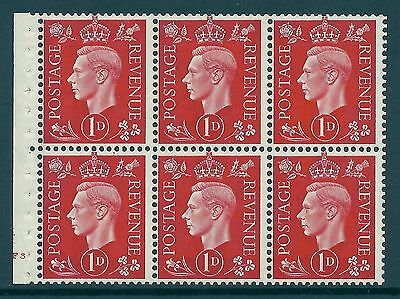 QB10 perf type B4B(E) cylinder F3 No Dot -1d Red Booklet pane UNMOUNTED MINT MNH