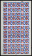 1969 General Anniversaries 1/6 Complete Sheet No dot UNMOUNTED MINT/MNH