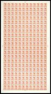 4½d Multi Crowns on White Full Sheet Cyl 8 Dot UNMOUNTED MINT/MNH