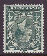Sg 424wi 4d Grey Green Block Cypher Wmk Inverted UNMOUNTED MINT