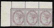 Sg 172j variety 1d Lilac with listed frame break R. 1/2 UNMOUNTED MINT