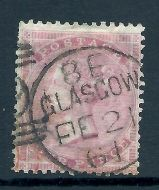 1862 - 1864 Sg 80 4d Pale Red - small corner letters with clean CDS USED
