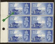 Sg C2b 1948 Channel Islands listed variety - Line across wheel UNMOUNTED MINT