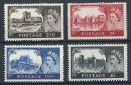 1963 Sg 595a - 598a Bradbury Wilkinson Castles all 4 values UNMOUNTED MINT